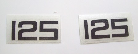1978 Yamaha YZ 125 Side Panel Decals