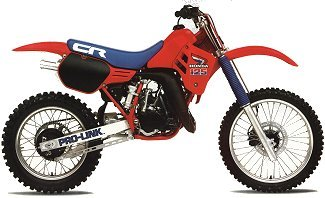 1985/1986 Honda CR 125 Plastic Kit Flash Red