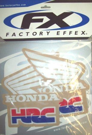 Universal Honda HRC CR 125 250 480 500 Tank or Shroud Decals