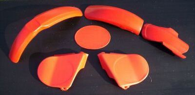 1976-1978 Honda CR 125 Plastic Kit Red