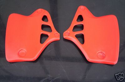 1984 Honda CR 250 Radiator Shrouds Flash Red