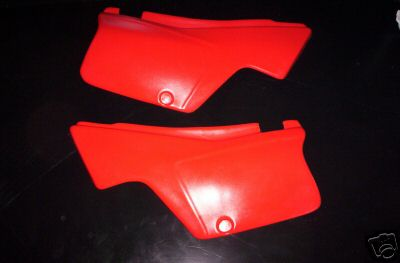 1982 Honda XL 500 XL500 Side Panels Red