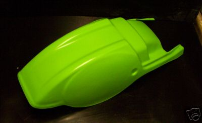 1982/1983 Kawasaki KX 125 250, 83/84 KX 500 Rear Fender Green