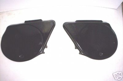 1974-1976 Kawasaki KX 125 Side Panels Black