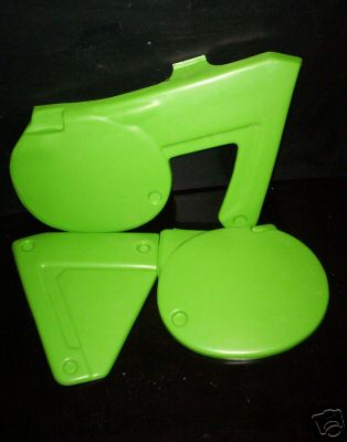 1980/1981 Kawasaki KX 125 250 420 Side Panels Green