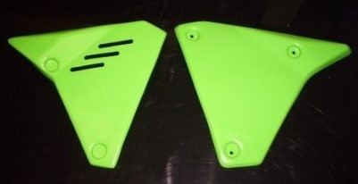 1980-1982 Kawasaki KDX 175; 1981 KDX 250 & 420; 1982 KDX 450 Side Panels Green