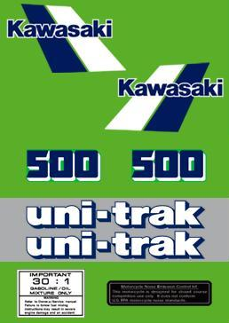 1984 Kawasaki KX 500 Decal Kit