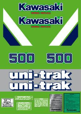 1986 Kawasaki KX 500 Decal Kit