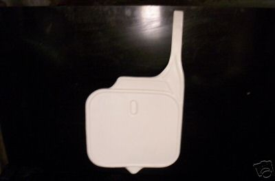 1987/1988 KTM Front Number Plate White