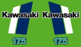 1980-1982 Kawasaki KDX 175 Decal Kit