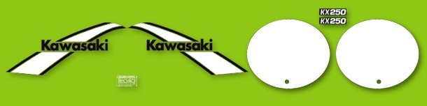 1975 Kawasaki KX 250 Decal Kit