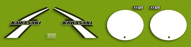 1976 Kawasaki KX 125 Decal Kit