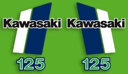 1980/1981 Kawasaki KX 125 Decal Kit