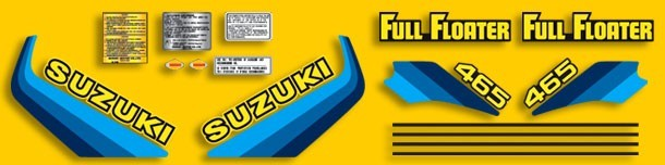 1982 Suzuki RM 465 Complete Decal Kit