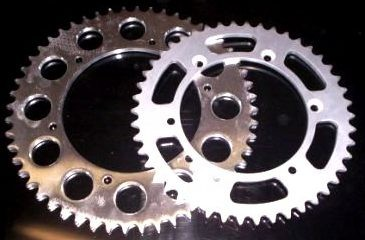 1980-1998 Yamaha YZ 125 250 465 490; IT 175 200 250 425 465 490; TT 500 Rear Sprocket Steel