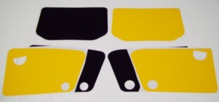 1983-1987 Honda XL600 XL 600 Number Plate Backgrounds