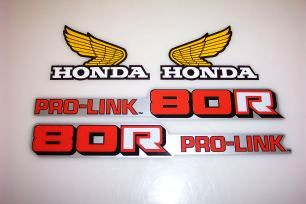 1984 Honda CR 80 Tank & Swingarm Decal Kit