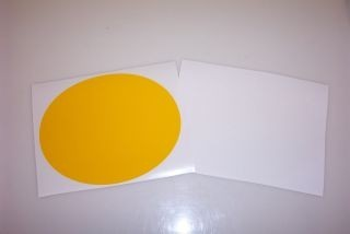 2 Mil Oval Number Plate Backgrounds (3 per package)