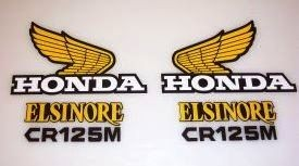1974/1975 Honda CR 125 Tank & Side Panel Decal Kit