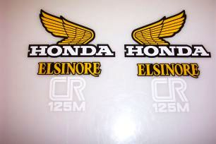 1978 Honda CR 125 Tank & Side Panel Decal Kit