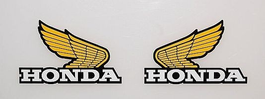 1984 Honda CR 125 250 500 Tank Decal Kit