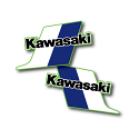 1983 Kawasaki KX 250 Tank Decals Die Cut Perforated