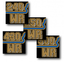 1982 Husqvarna WR 430 Side Panel Airbox Cover Decal