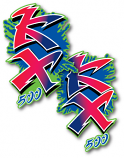1990 Kawasaki KX 500 Shroud Decals Graphics Die Cut