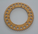 New Reproduction 7075 Alloy Gold Rear Sprocket that fits the 1968-1984 Drum Brake Maico