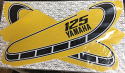 1976 Yamaha YZ 125 C & X Model Tank Decals Graphics