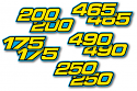 1982-1986 Yamaha IT 175 200 250 465 490 Side Panel Decals (Click to select a model)