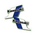 1983 Kawasaki KX 125 Tank Decals Die Cut Perforated