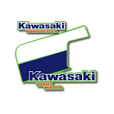 1986 Kawasaki KX 125 Tank & Shroud Decals Die Cut Perforated