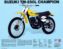 1974-1975 Suzuki TM 250 Plastic Kit