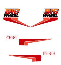 1986 Yamaha BW 200 Big Wheel Decal Kit