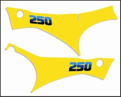 1983 Suzuki RM 250 Side Panel Decals Full Cover